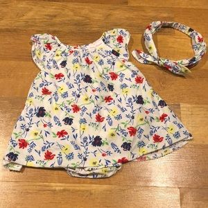 6-9m Tommy Bahama Flower Dress with Bow